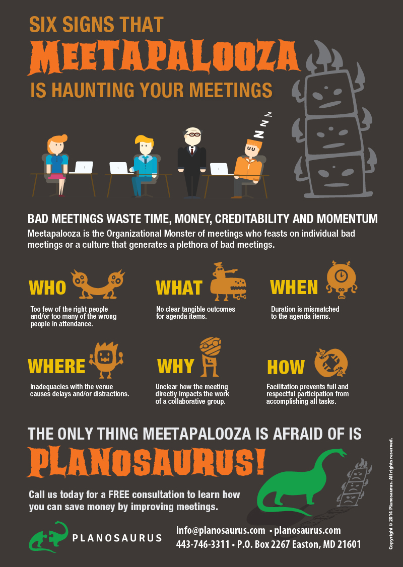 Six signs that Meetapalooza is haunting your meetings (Infographic)